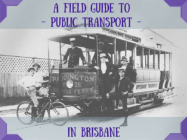 Brisbane Public Transport - Old fashioned Brisbane pre-20th century tram heading to Paddington, with local young men aboard.