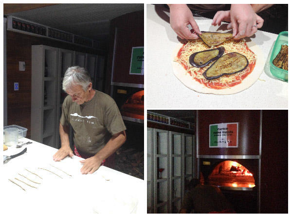 Making pizza dough, topping a pizza, woodfired oven in The Scenic Rim