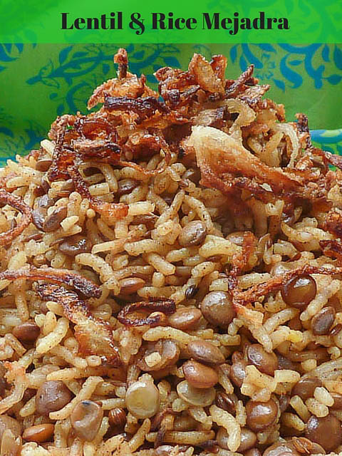 Spiced rice & lentil Mejadra with crispy onion topping