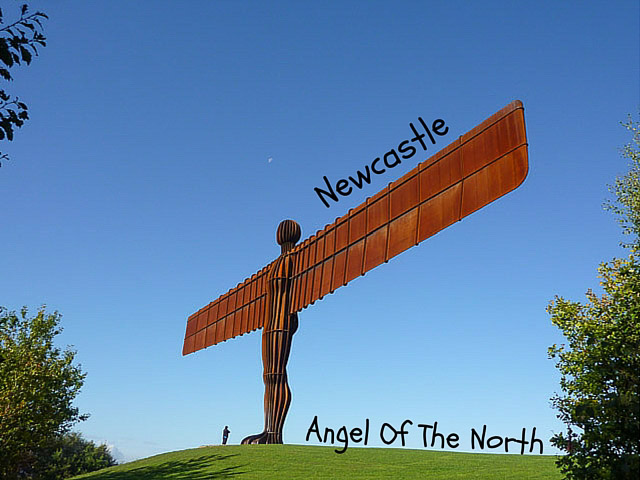 Sir Anthony Gormley's Angel Of The North statue near Gateshead & Newcastle Upon Tyne