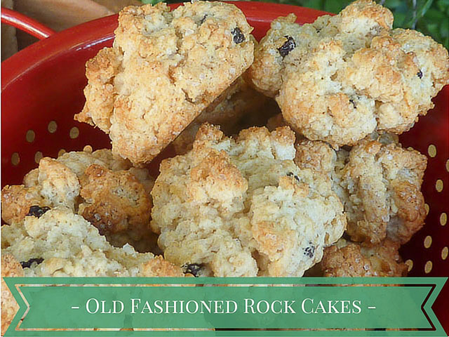 old fashioned rock cakes with currants