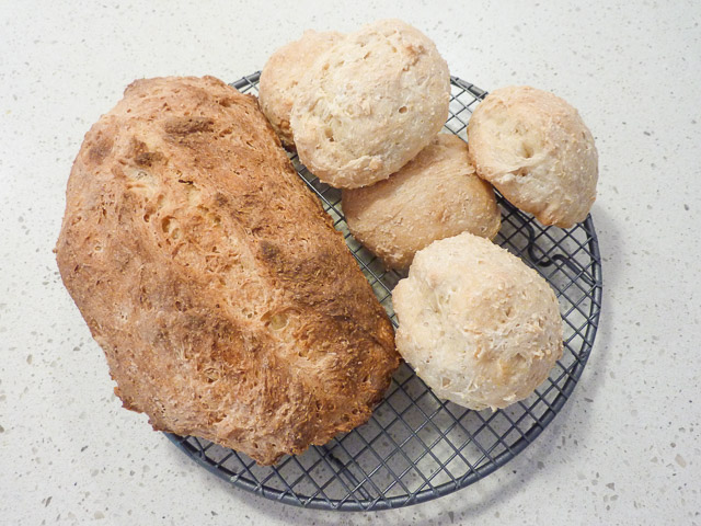 Sourdough bread and rolls