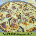 Wild Mushroom Tart known as Svamptarte in Sweden