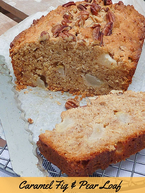 Caramel Fig & Pear Loaf – Bookmarked Recipes