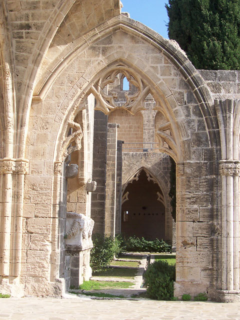 Bellapais Monastery ruins in Northern Cyprus