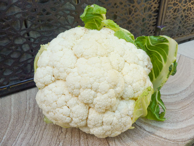 a full head of cauliflower
