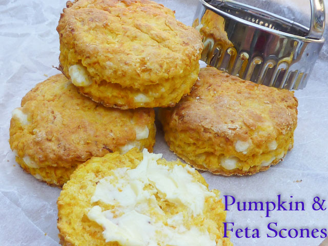 Pumpkin & Feta Scones with a Scone Cutter