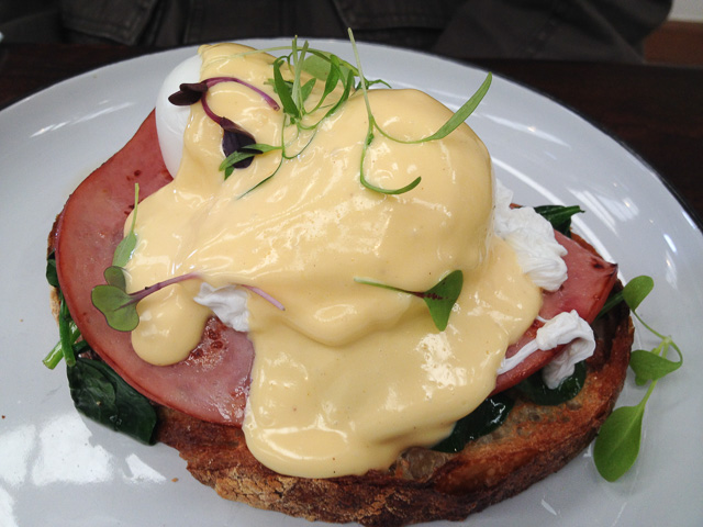 Eggs Benedict at Republic Coffee Traders
