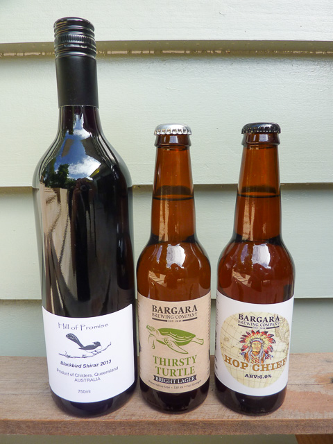 local wine and beers from the wide-bay burnett region