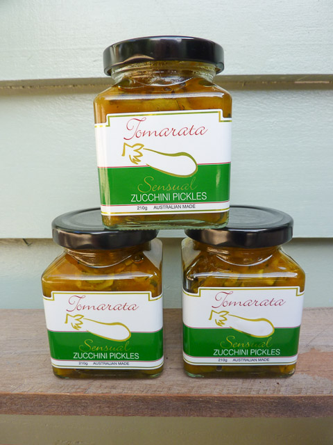 jars of zucchini pickles from wide bay-burnett region