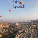 Balloon flight over the fairy chimneys of Cappadocia, Turkey