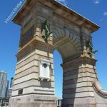 sansdtone arch known as the Victoria Bridge Abutment in Brisbane