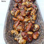 tray of tamari spiced nuts