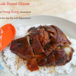 yat lok roast goose on a plate with rice