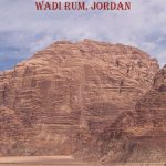 red rock monolith of wadi rum in jordan