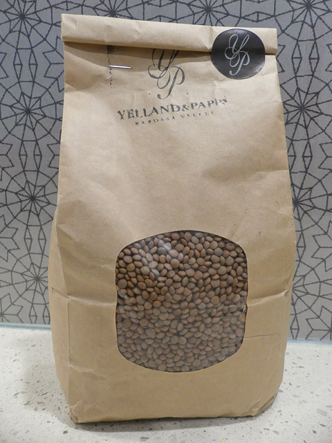a large bag of lentils