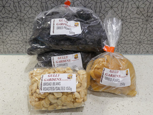 bags of mixed dried fruit