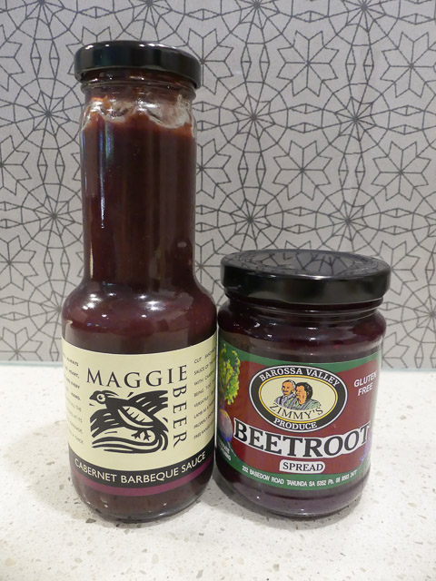 two jars of barossa sauces