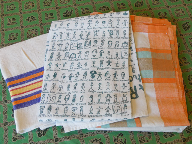 three tea towels