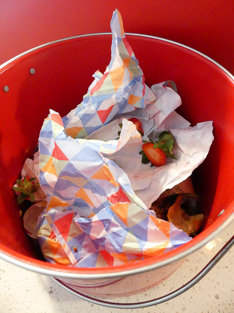 bucket of rubbish for compost