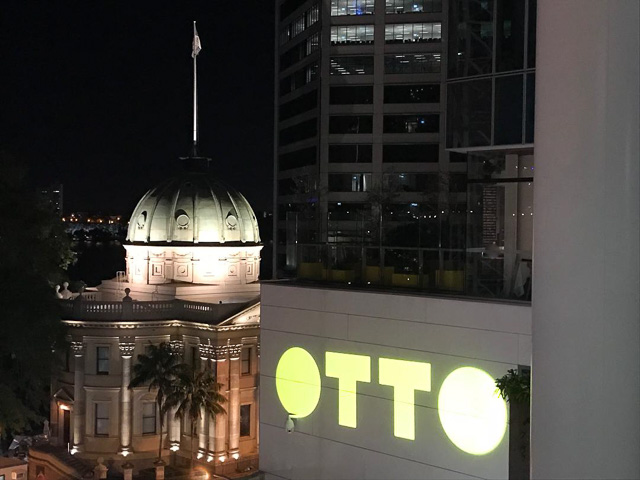otto sign with brisbane customs house in background