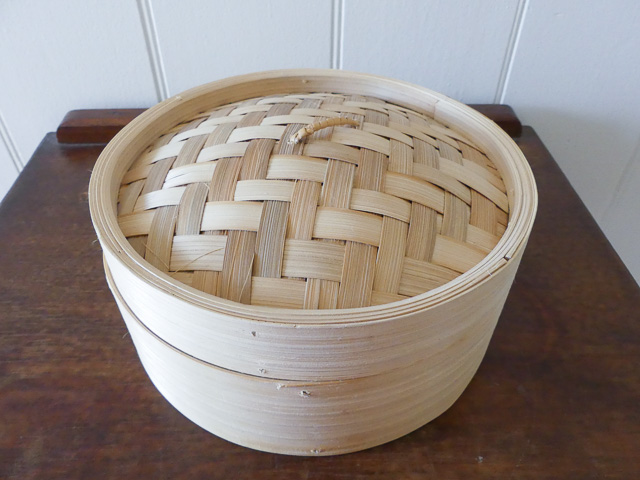 bamboo steamer basket with lid purchased from an op shop