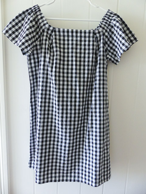 black and white checked cotton dress purchased from an op shop