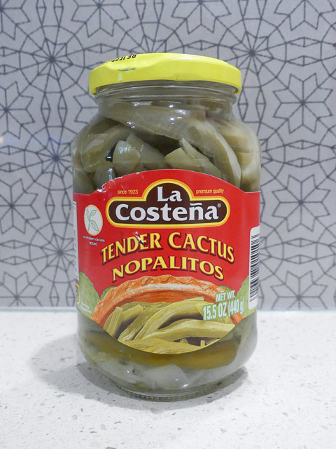 large jar la costena cactus nopalitos