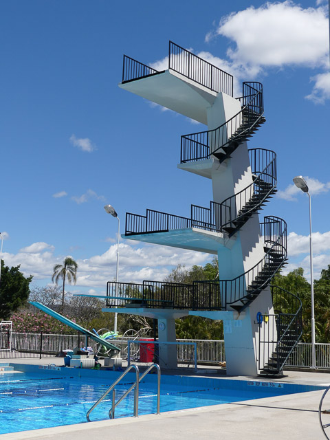 1950's diving tower at the centenary pool brisbane