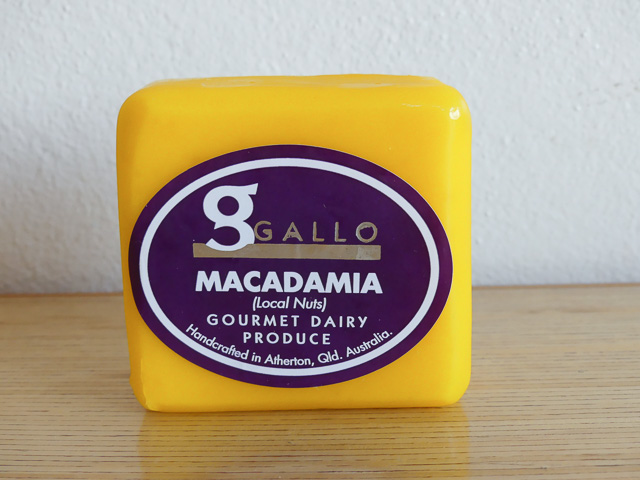 Gallo macadamia cheese in yellow wax